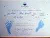 Meine erste Urkunde - und ja, das sind meine Füße !!!